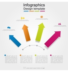 Infographic report template with place for your vector