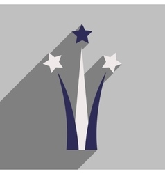 Flat icon with long shadow star salute vector