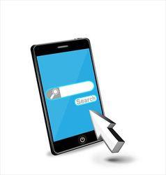 Smartphone internet web search vector image