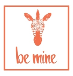 Be mine valentines day template vector