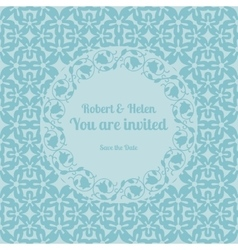 You are invited wedding card template vector