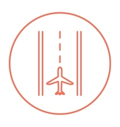 Airport runway line icon vector