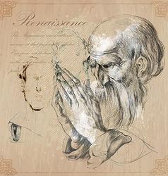 An hand drawn - renaissance vector image vector image