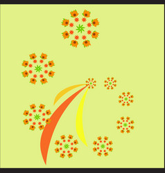 autumn fractal isolated patter for design vector image vector image