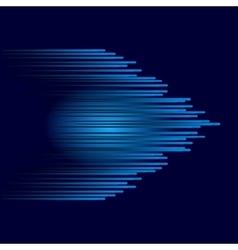 Blue abstract arrow vector image vector image