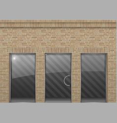 brick facade in loft style vector image vector image