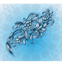 card with floral pattern vector image vector image