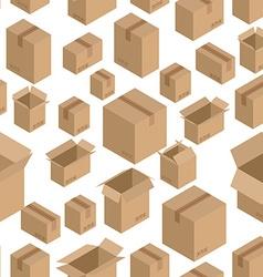 Cardboard box seamless pattern Paper packaging vector image vector image