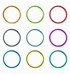 color abstract circles loops logo elements vector image