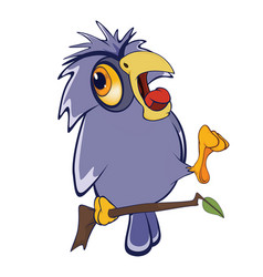 cute owl cartoon character vector image vector image