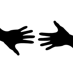 deal done - helping hand vector image vector image