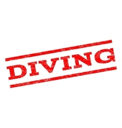 Diving watermark stamp vector