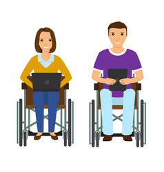 electronic learning disability people man and vector image vector image