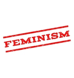 Feminism watermark stamp vector