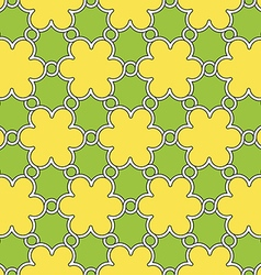 Flowers pattern yellow and green ornament vector