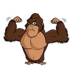Gorilla flexing vector
