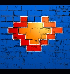 Graffiti heart vector