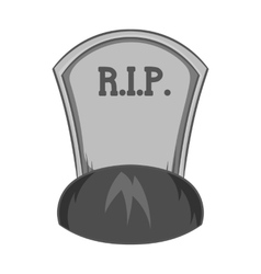 Grave rip icon black monochrome style vector image vector image