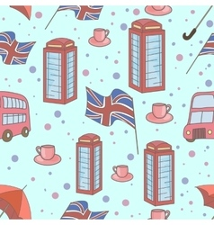 Great britain symbols seamless pattern vector