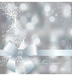 Greeting Christmas card in gray and blue colors vector image