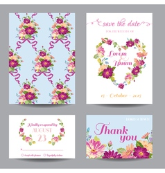 Invitation or Greeting Card Set vector image