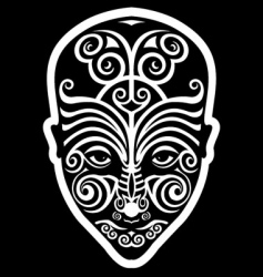 Maori face tattoo vector