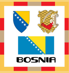 official government ensigns of bosnia vector image