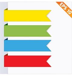 Paper tag label ribbon - - EPS10 vector image vector image