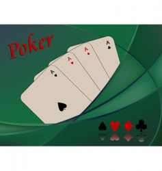 poker playing cards vector image vector image
