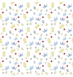 Prince Seamless Pattern Background vector image vector image