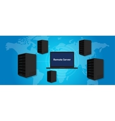 remote server connecting manage computer online vector image