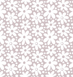 Seamlesspattern with decorative daisy flowers vector image