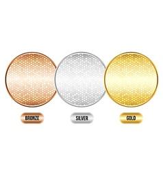 Set of luxury metallic backgrounds vector image