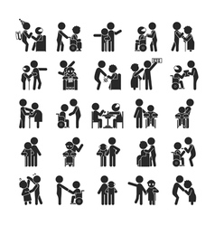 Set of young volunteer character vector image