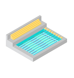SWIMMING POOL ISOMETRIC FLAT DESIGN vector image vector image
