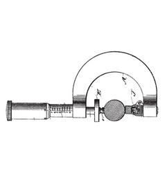 The precision micrometer screw gauge vintage vector
