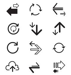Upload download Refresh Data Transfer Icons set vector image vector image
