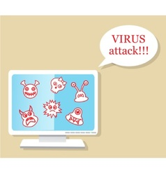 virus attack vector image
