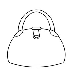Woman handbag fashion style thin line vector
