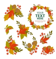 Autumn object background vector