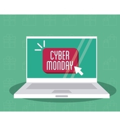 Laptop and cyber monday design vector