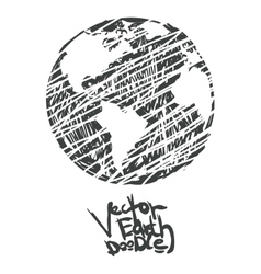 Hand drawn global isolated vector