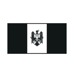 Moldova flag monochrome on white background vector