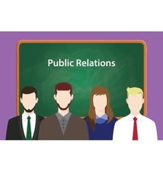 Public relations concept with vector
