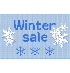 Winter special offer sale discount template banner vector
