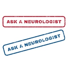 Ask a neurologist rubber stamps vector