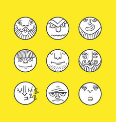 emoticons collection vector image