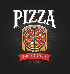Pizzeria logo template vector