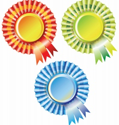 SET OF best choice label with ribbons vector image