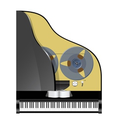 Piano with recorder vector
